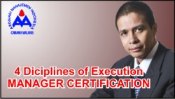 4 Diciplines of Execution Manager Certification
