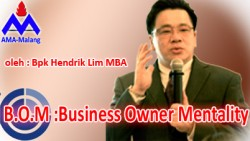 B.O.M : Business Owner Mentality