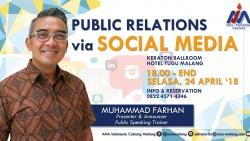 PUBLIC RELATIONS VIA SOCIAL MEDIA